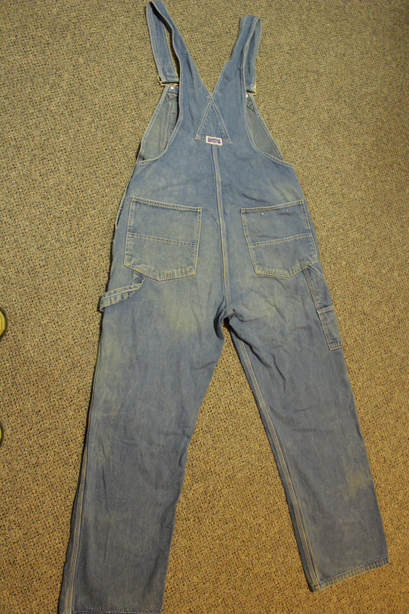 Big Smith 80's Vintage Denim Bib Overalls Men's Size 34x30 Work Clothes