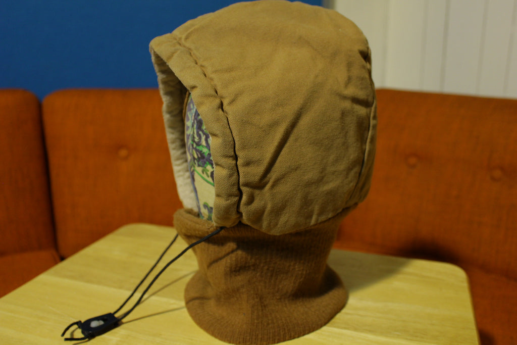 Walls Blizzard Pruf Zero Zone Insulated Hood Accessory Drawstring Brown USA