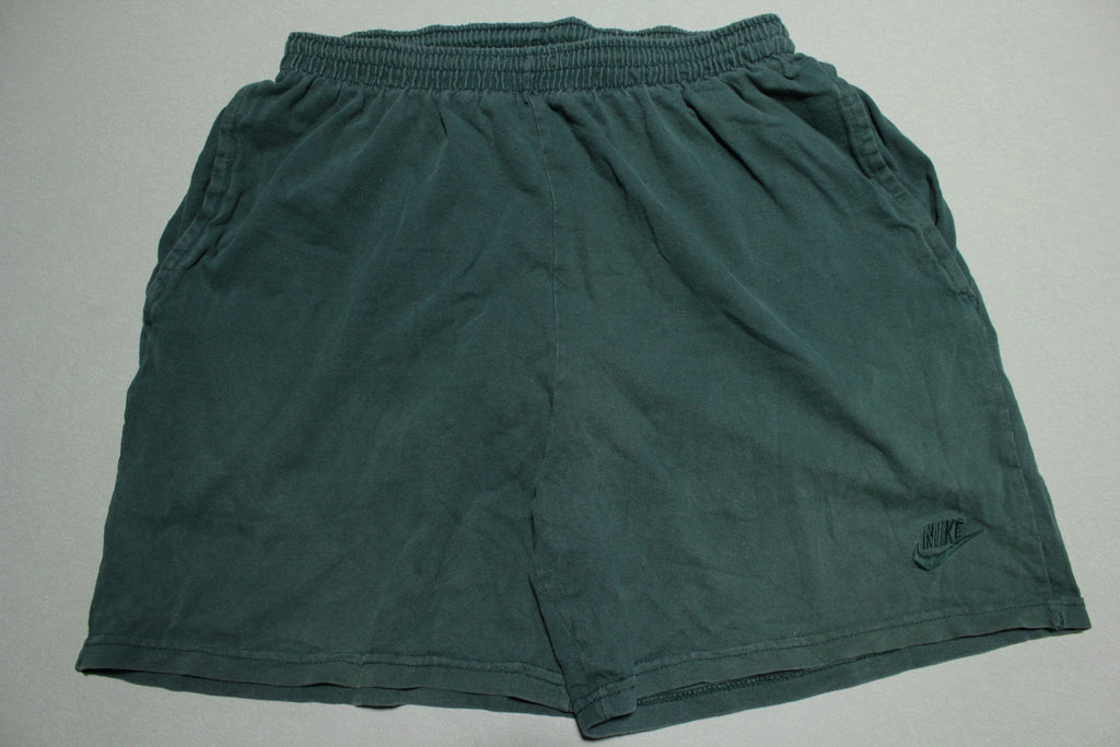 Nike Vintage 90s Green Swoosh White Tag Gym Track Shorts