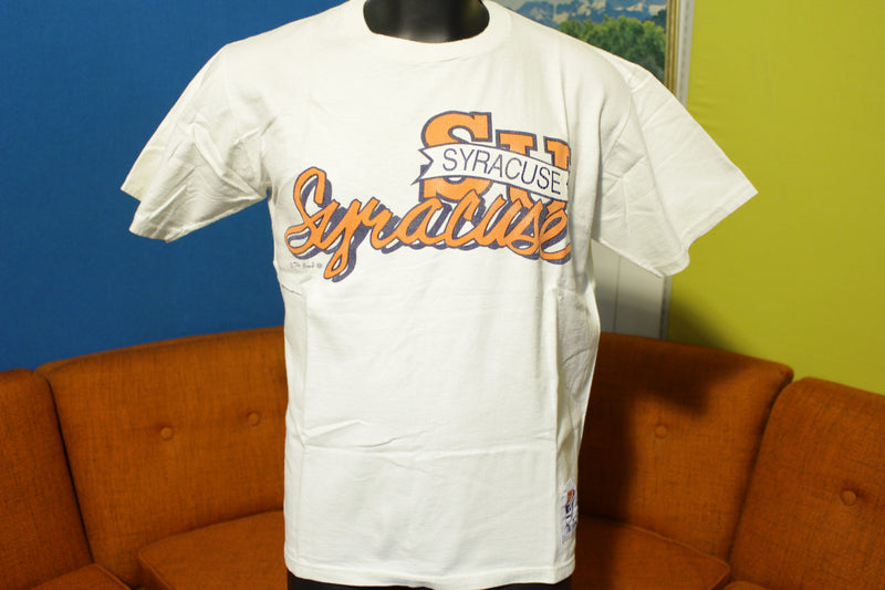Syracuse University 80's 90's The Game Orangemen Orange Collegiate Vtg T-Shirt