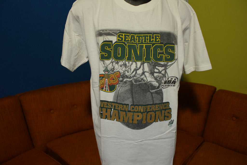 Seattle Sonics Western Conference Champions 1996 NBA Playoffs Vintage T-Shirt