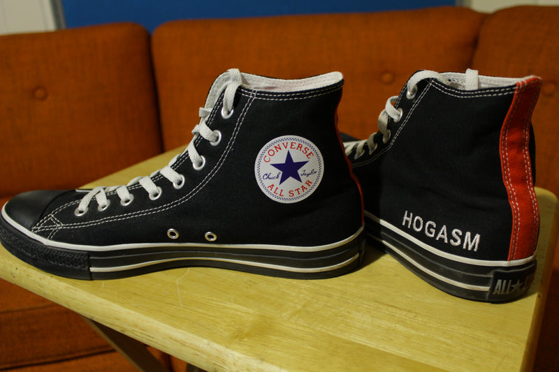 Converse All-Star Chuck Taylor Hi Top Custom HOGASM Harley Davidson Shoes 10.5