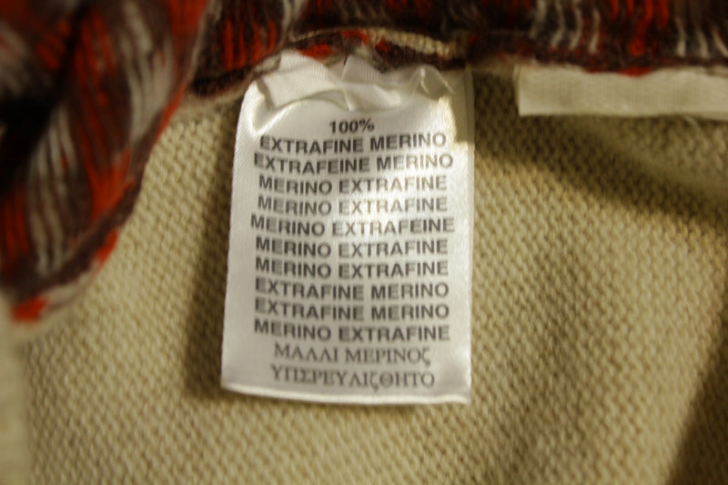 Burberry of London V-Neck Check Extrafine 100% Merino Wool Authentic Sweater