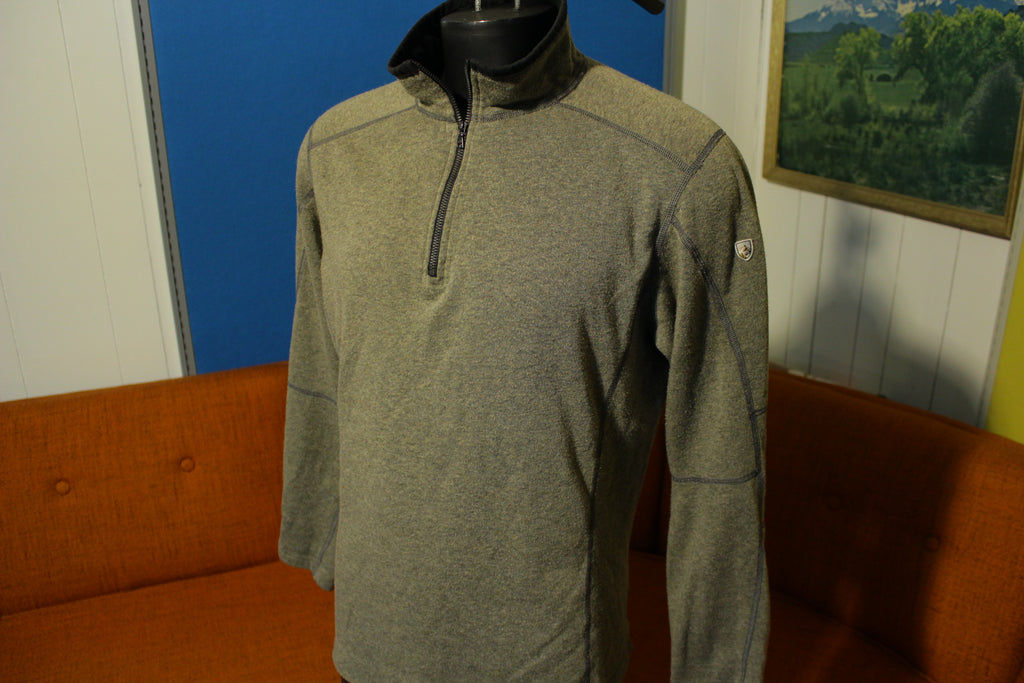 Kuhl Revel 1/4 Half Zip Brown Kashmira Fleece Pullover Sweater Men's Large