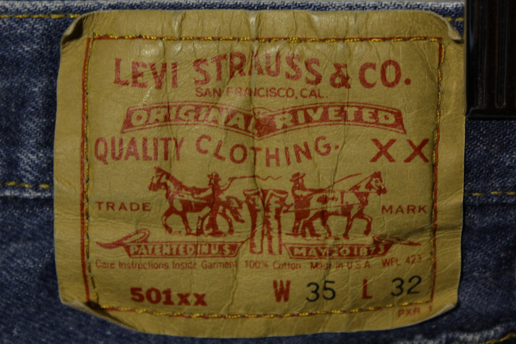 Levis 501 Button Fly 80's Red Tag Made In USA 1980's Medium Wash Jeans 32x28