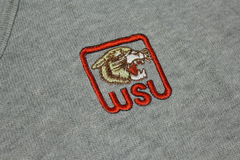 WSU Washington State Cougars Vintage 80's V-Neck Preppy Sweater