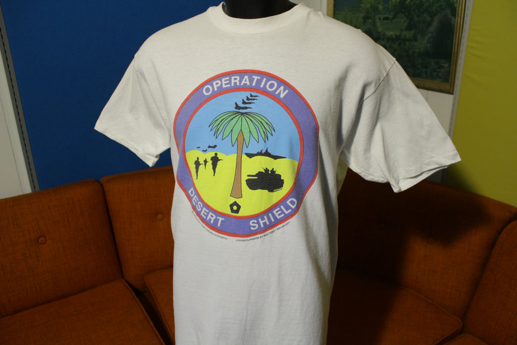 Operation Desert Shield Vintage 1990 United Nations War Death Machine T-Shirt