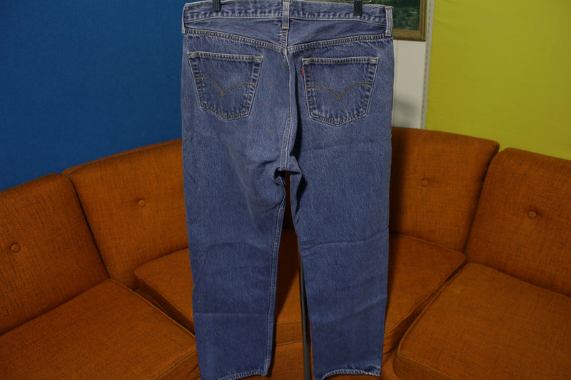 90s Levis 501 Button Fly Jeans Lot Of 2 Vintage Grunge Punk USA Made 501xx 36x31