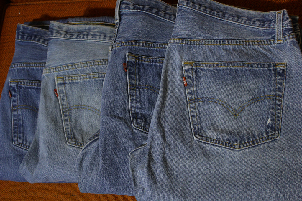90s Levis 501 Button Fly Jeans Lot Of 4 Vintage Grunge Punk USA Made 501xx 36x31