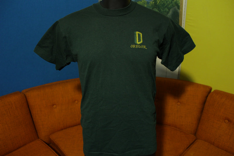 Oregon University Ducks Embroidered Logo Vintage 80's Made in USA T-Shirt