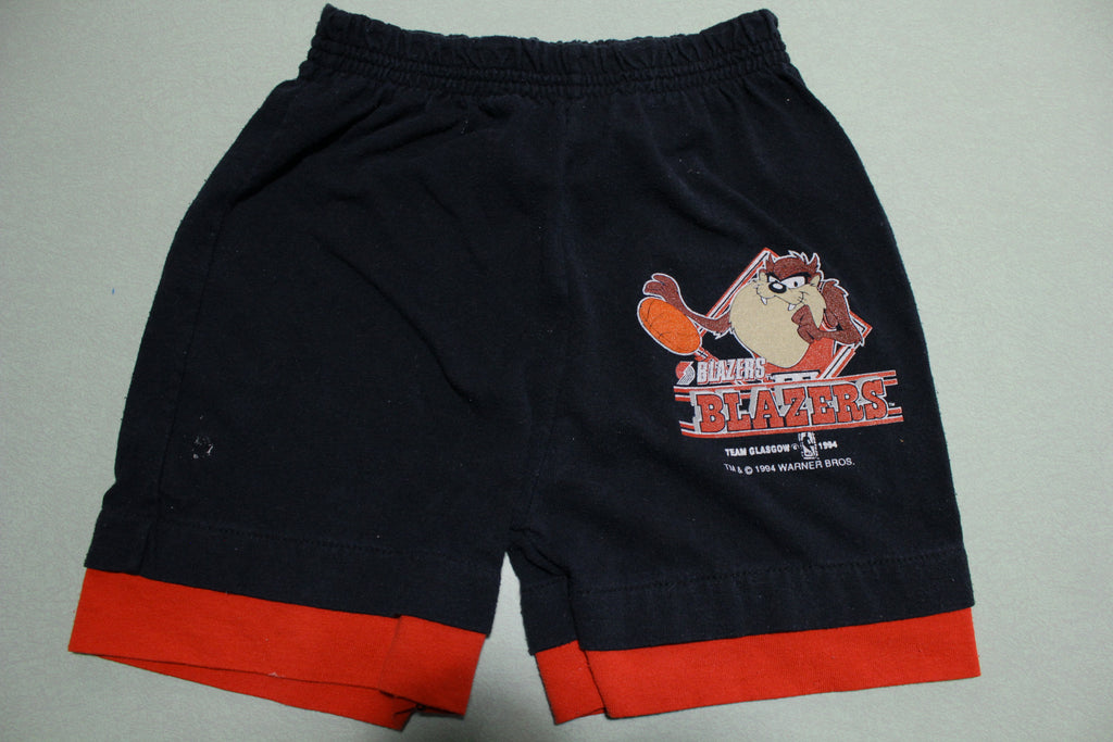 Portland Trail Blazers Taz Vintage Team Warner Bros 1994 90s Gym Shorts