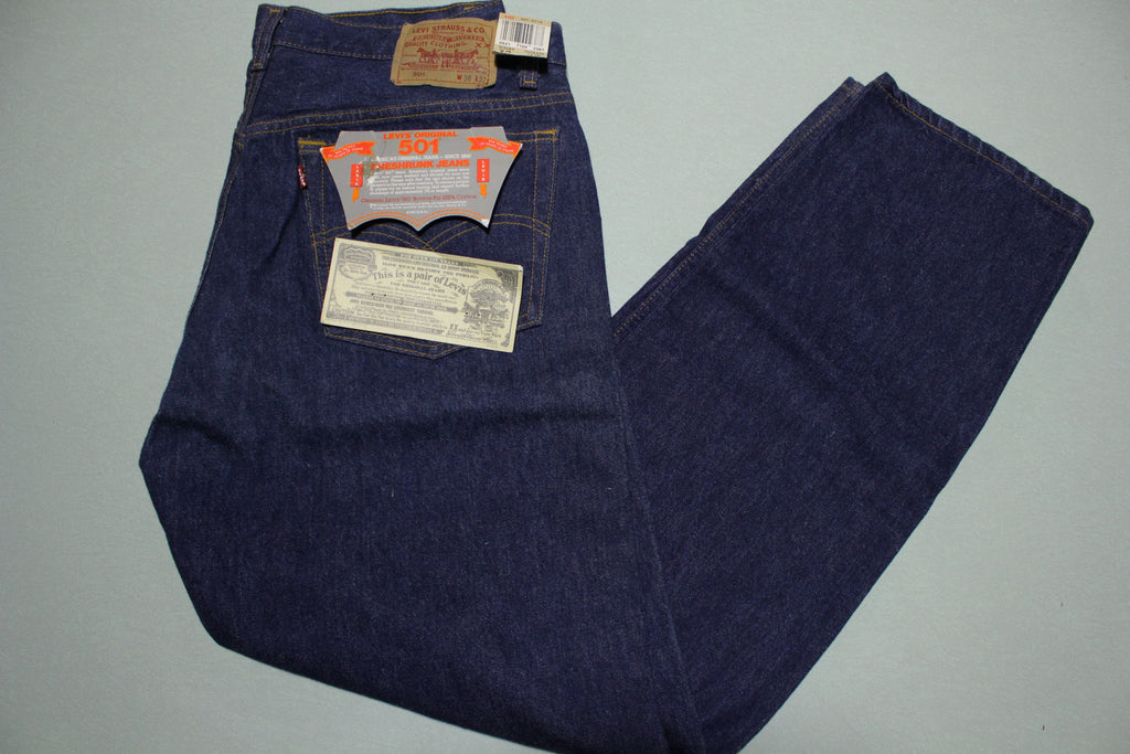 Levi's RED LABEL 501xx Jeans NWT Vintage 1987 Sz 38X32 Made in USA Dead Stock