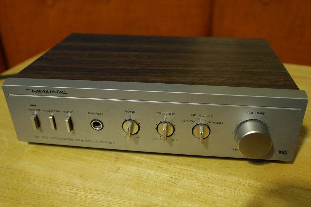 Realistic SA-150 31-1955 Integrated Stereo Amplifier Silver Face 25 Watt Tested
