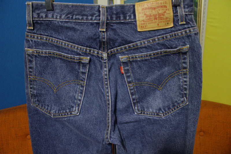 Levis 517 Vintage 80's Slim Fit Boot Cut 11 Jr. M Student Jeans Made in USA Denim