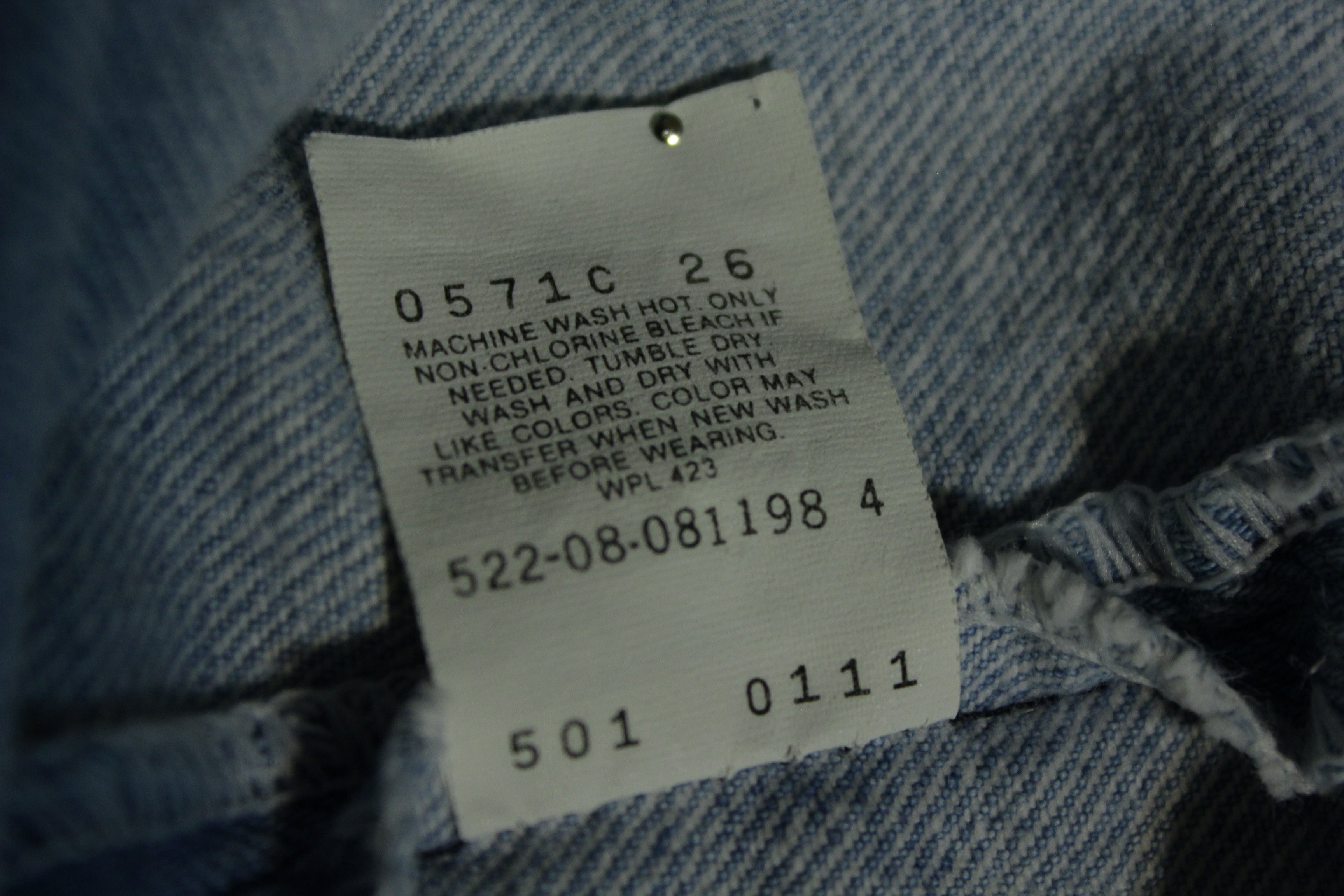 d6aa699a Levis 501 Button Fly 80's Red Tag Made In USA 1980's Light Wash Jeans 30x31
