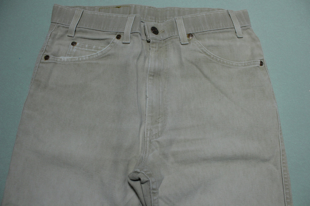 Levis 43415-4529 Vintage Tan Light Brown Action Jeans 1980s Made in USA