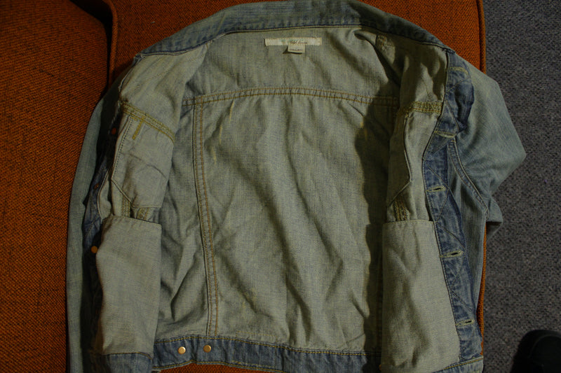Ralph Lauren Vintage Distressed Mexico Polo No. 67 Denim Light Jean Jacket