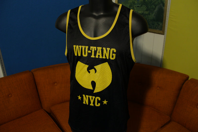 Wu-Tang Clan NYC Black Gold Vtg Jersey Tank Top Rare Made In USA!!! Medium
