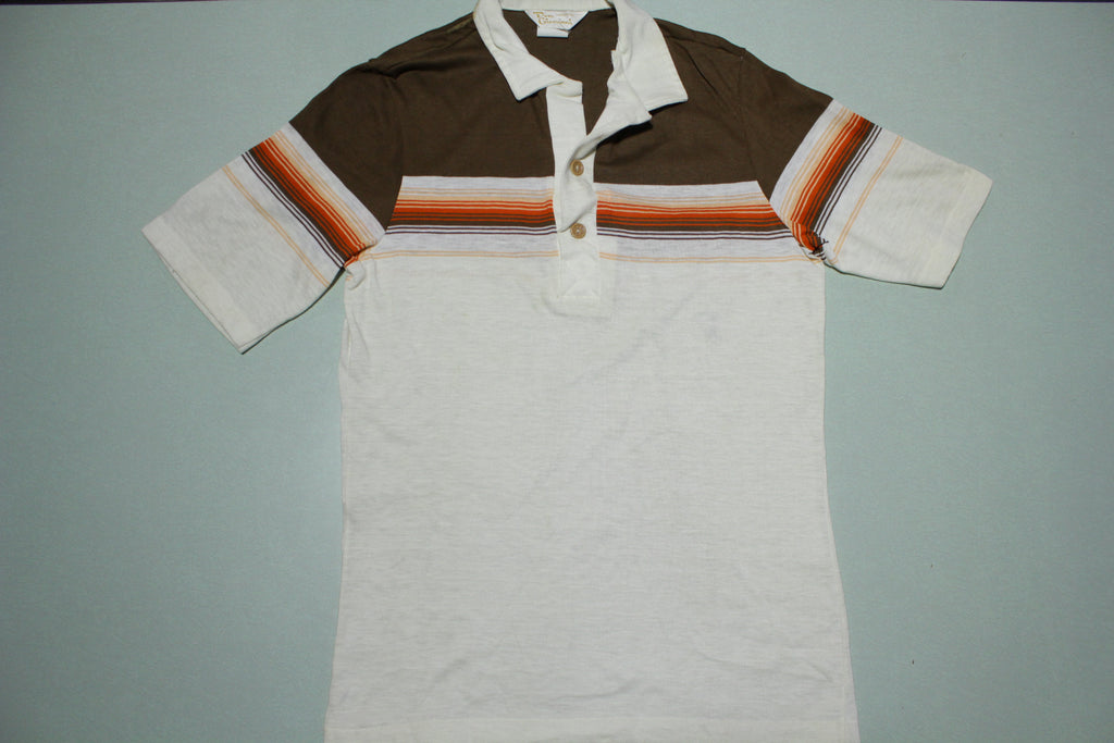 Don Giovanni California Vintage 60s 70s Single Stitch Striped Polo Shirt