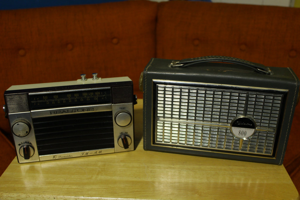 Sears Silvertone Ultra Power 800 Realtone 10 Transistor Vintage Radio Lot 2222 2223