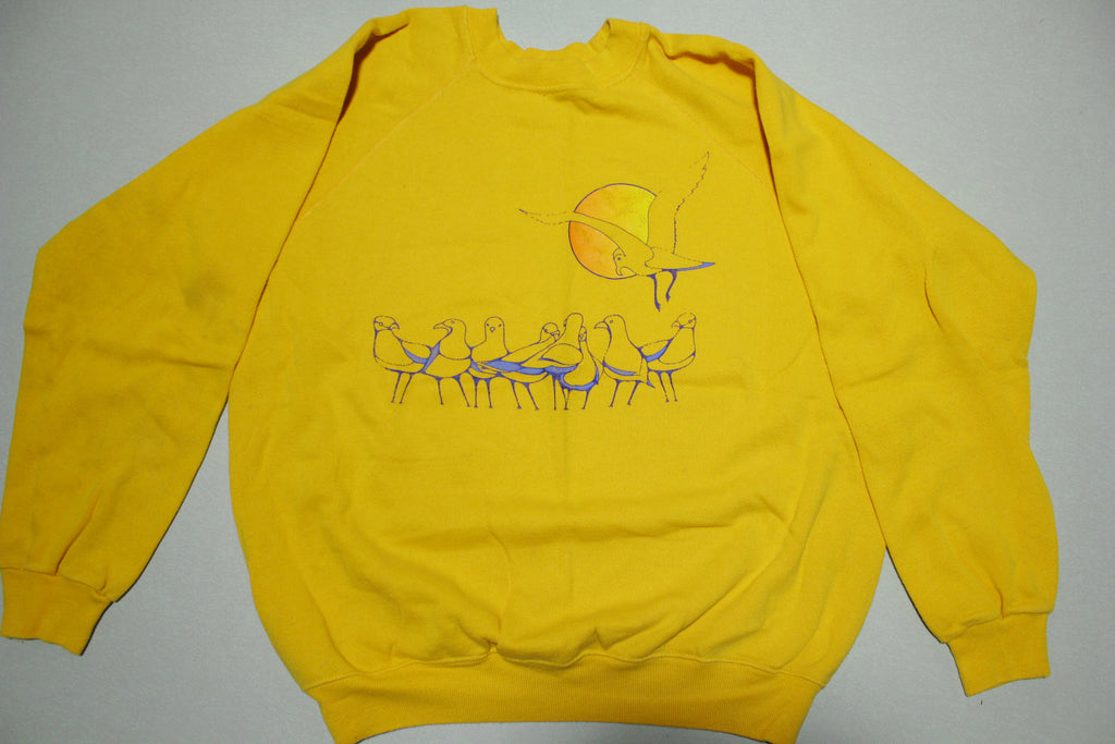 Seagulls Over Sunset Vintage 80's Hanes 50/50 Made in USA Crewneck Sweatshirt