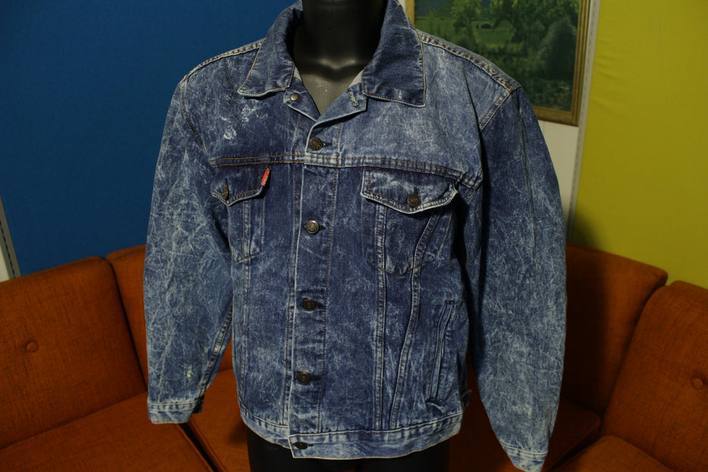 Raffle 80's Vintage Acid Rock New Wave Denim Fade Jean Jacket Classic & Rare