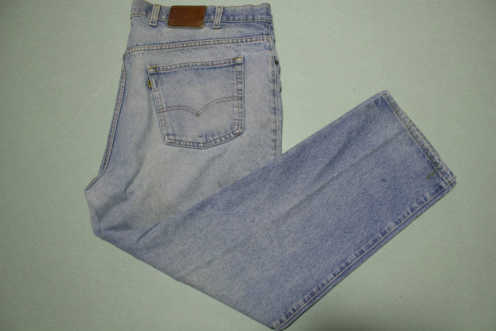 Levis Leather Tab Patch Stone Washed Made in USA Jeans Vintage 80's 41840-0214