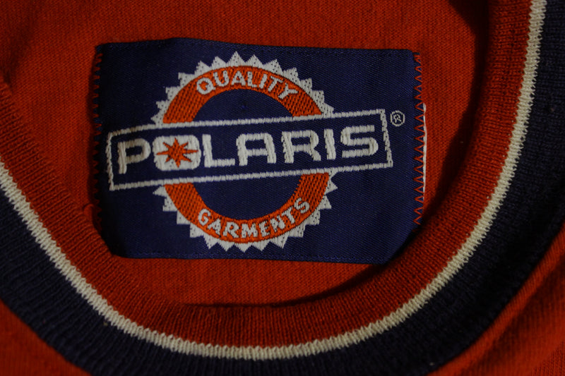 Polaris Quality Snowmobile Single Pocket Vintage 80s 90s T-Shirt SNO MODEL