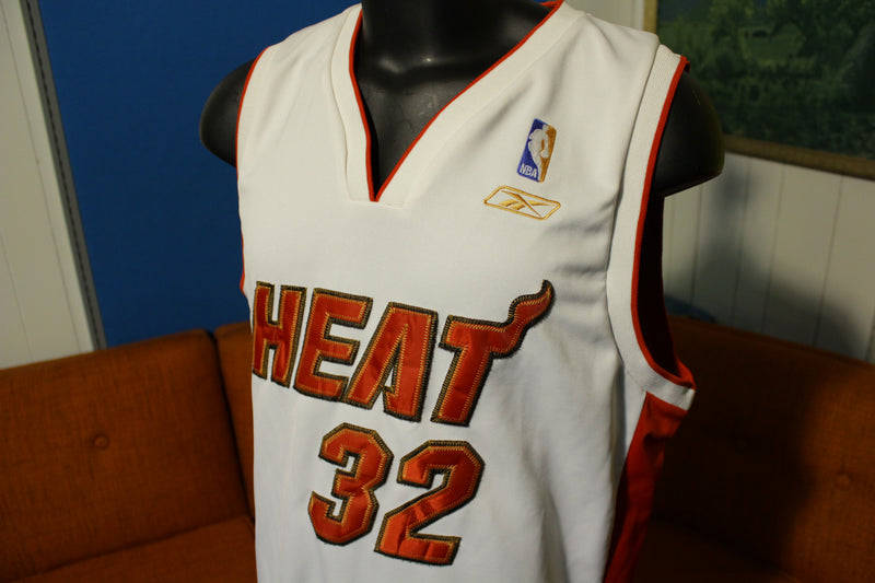 Shaquille O'Neal Vtg Shaq Miami Heat #32 White Reebok Men's XL Away Jersey
