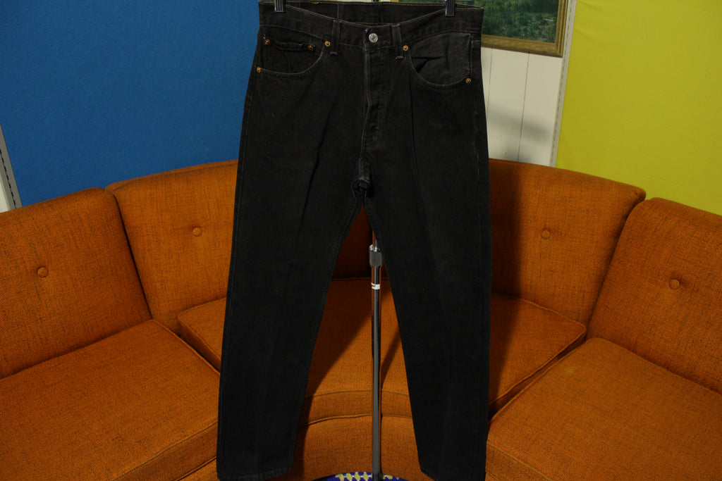 a12ee6daabb Levis 501 Rare 90's Red Tab USA Made Black & Gray Thread Jeans 30x31