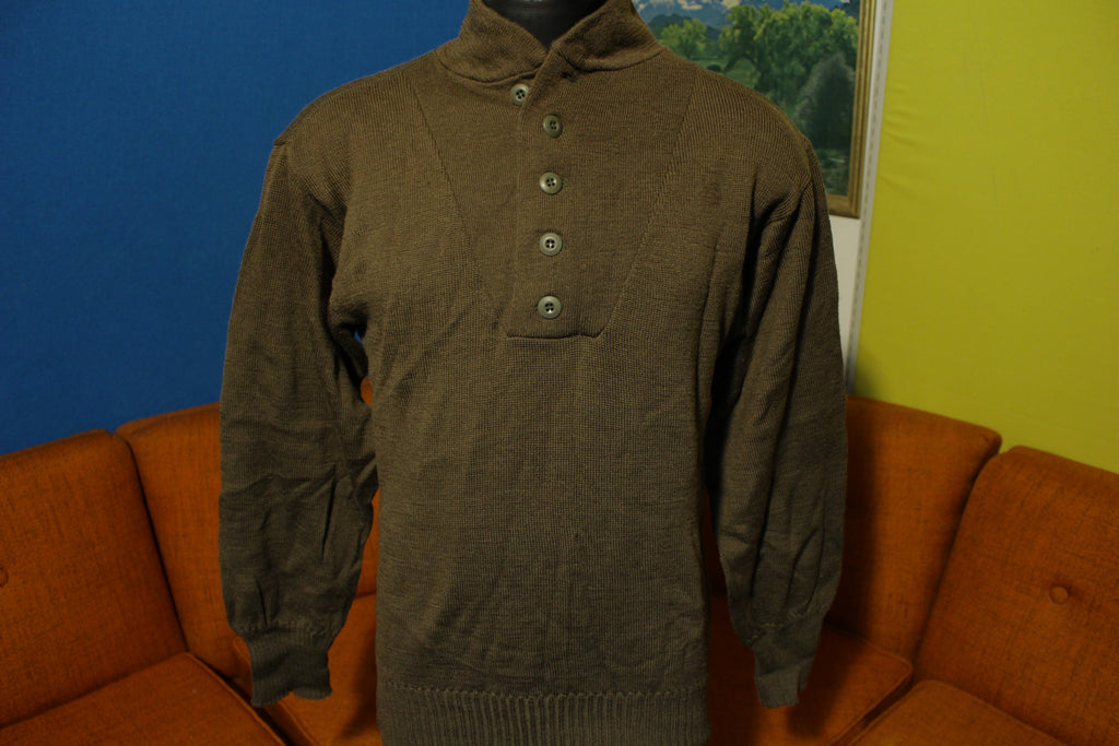 Mililtary 80's Man's 100% Wool Sweater OD Large 42-44 DLA100-88-C-0318 NEW!