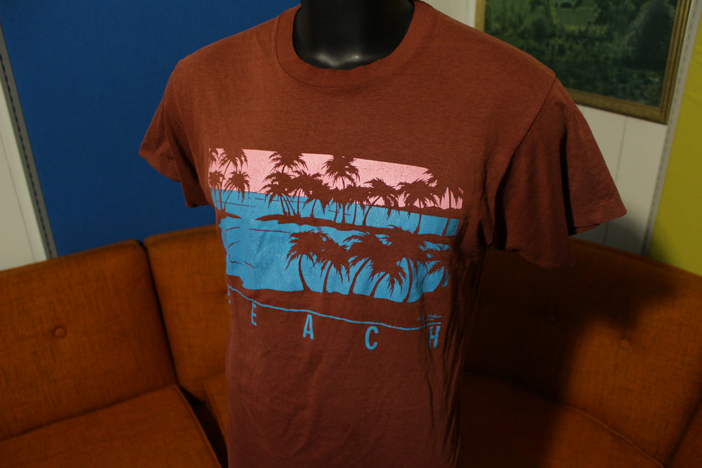 Beach Vintage 80's Hawaii Screen Stars Single Stitch Thin Major Motion T-Shirt