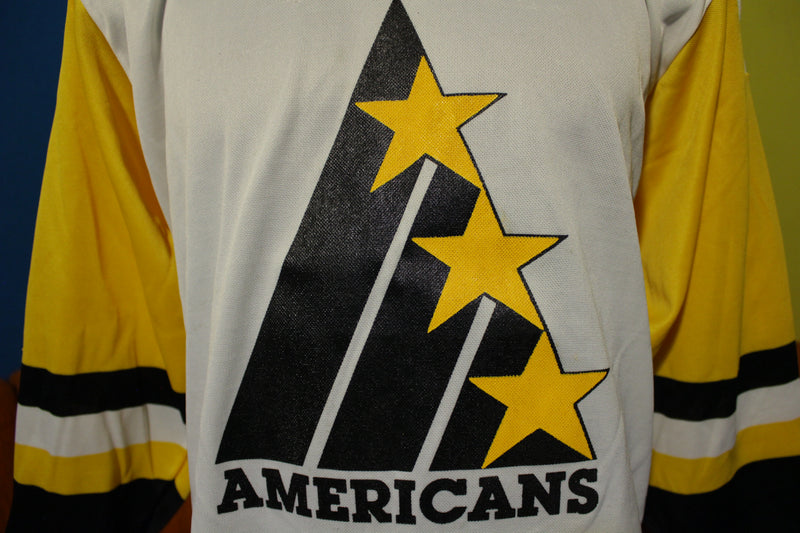 Tri-City Americans Vintage 1980's Practice Jersey. Original Authentic Logo! VERY RARE