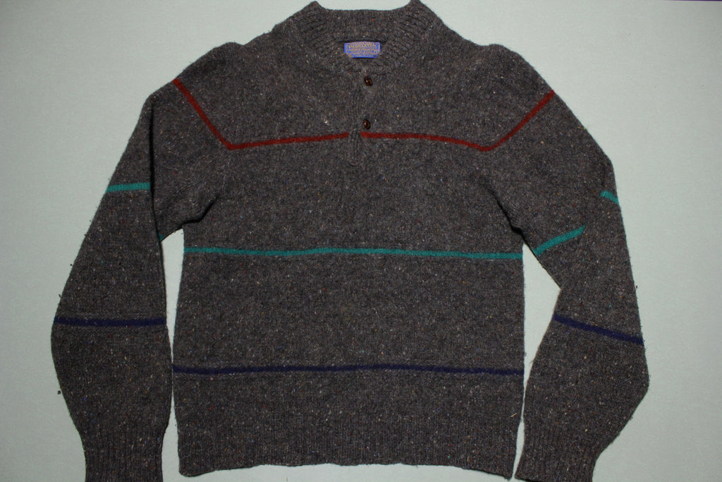 Pendleton 60s Wool Two Button Striped Vintage Sweater