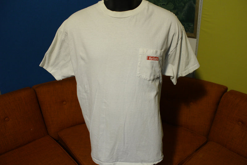 Marlboro Vintage 90's Country Store State Fair Rodeo Single Stitch Pocket T-Shirt