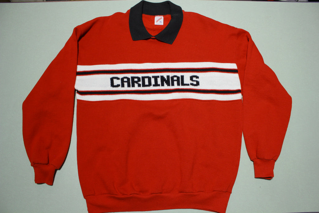 St Louis Cardinals Vintage 80s Knit Made in USA Crewneck Sweatshirt