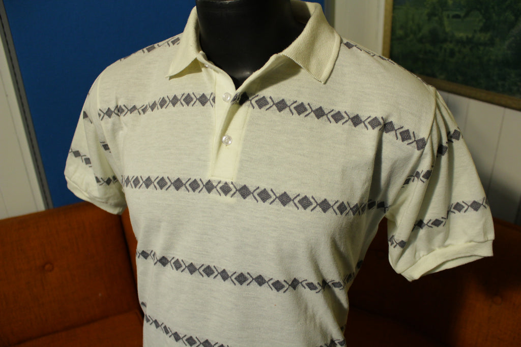 The Pro by Block Vintage 70s 80s Disco Golf Polo Short Sleeve Men's Large Shirt