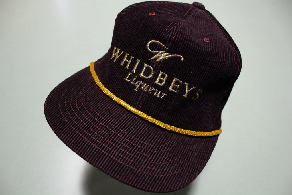 Whidbey's Liqueur Vintage Corduroy 80's Adjustable Back Snapback Cord Hat