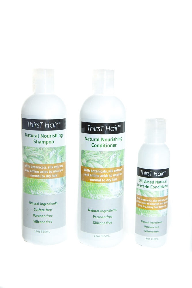 Product Kit with Oil-Based Leave-in Conditioner