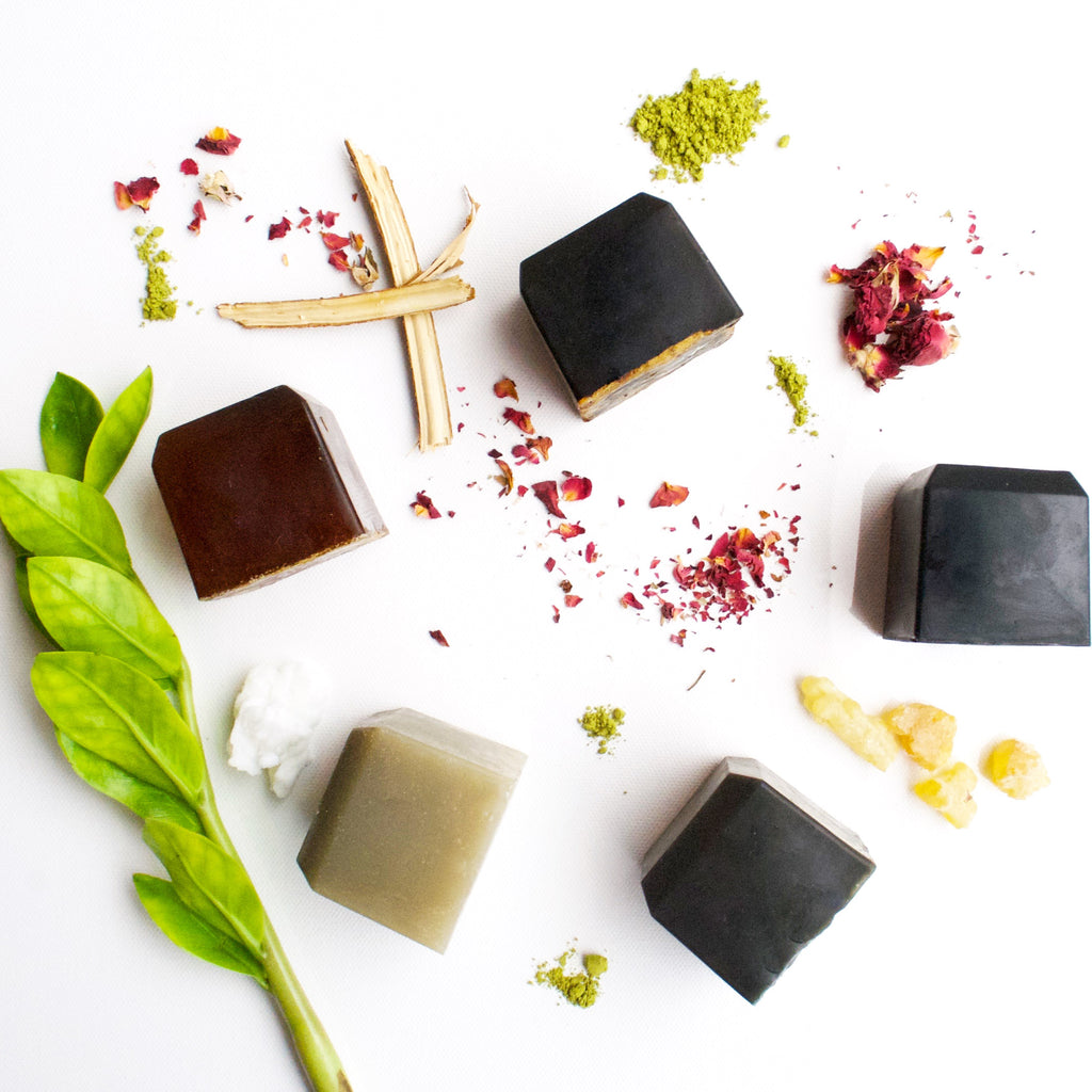Nourishing all natural vegan face soaps