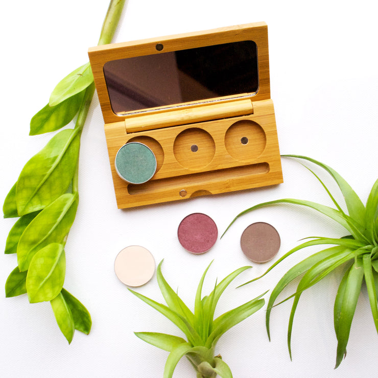 Elate magnetic bamboo makeup palettes and compacts