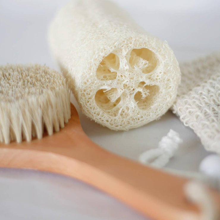 Plastic-free loofah dish and bath sponge