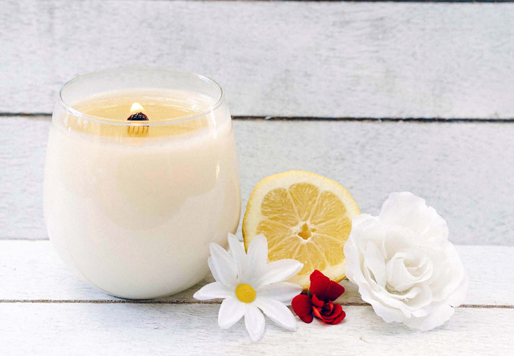 Organic plant-based candles