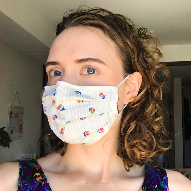 Upcycled cotton protective face masks - mixed prints
