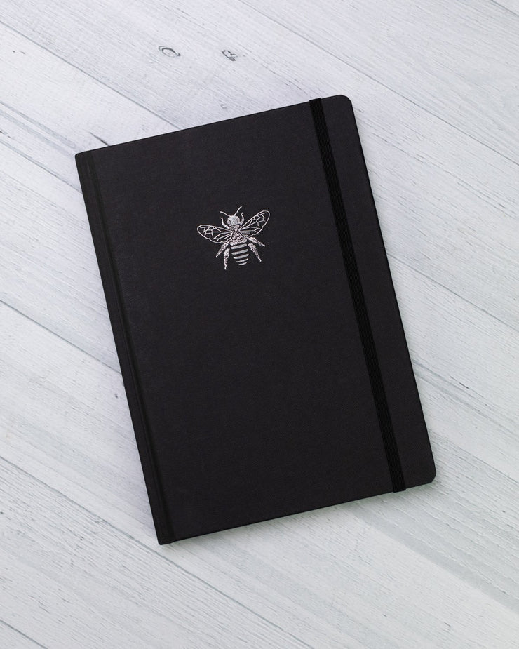 A5 recycled paper hardcover journal - lined