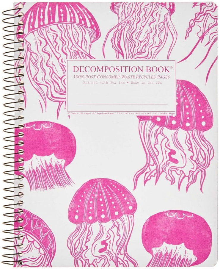 Recycled paper spiral notebook, lined
