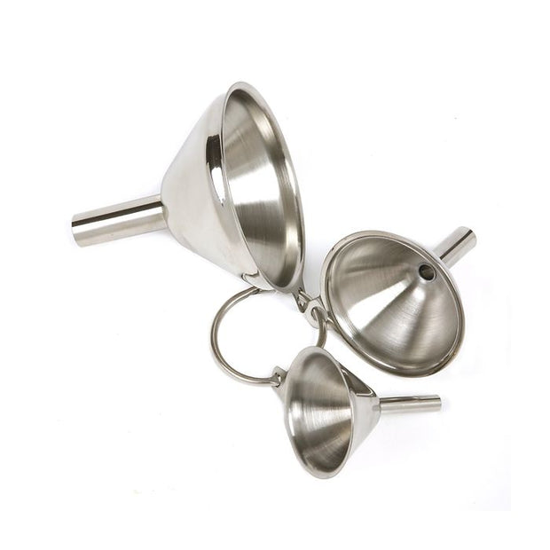 Stainless steel funnels, set of 3