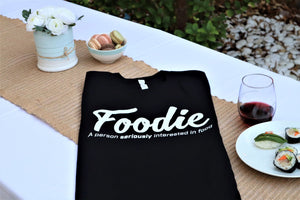 Foodie T Shirt Black Unisex Extra Comfy