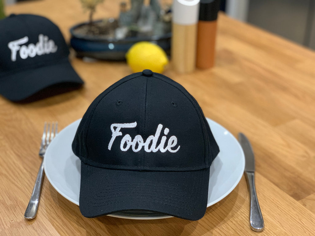 "Cap Structured Twill ""Foodie"" Black (Limited quantity)"