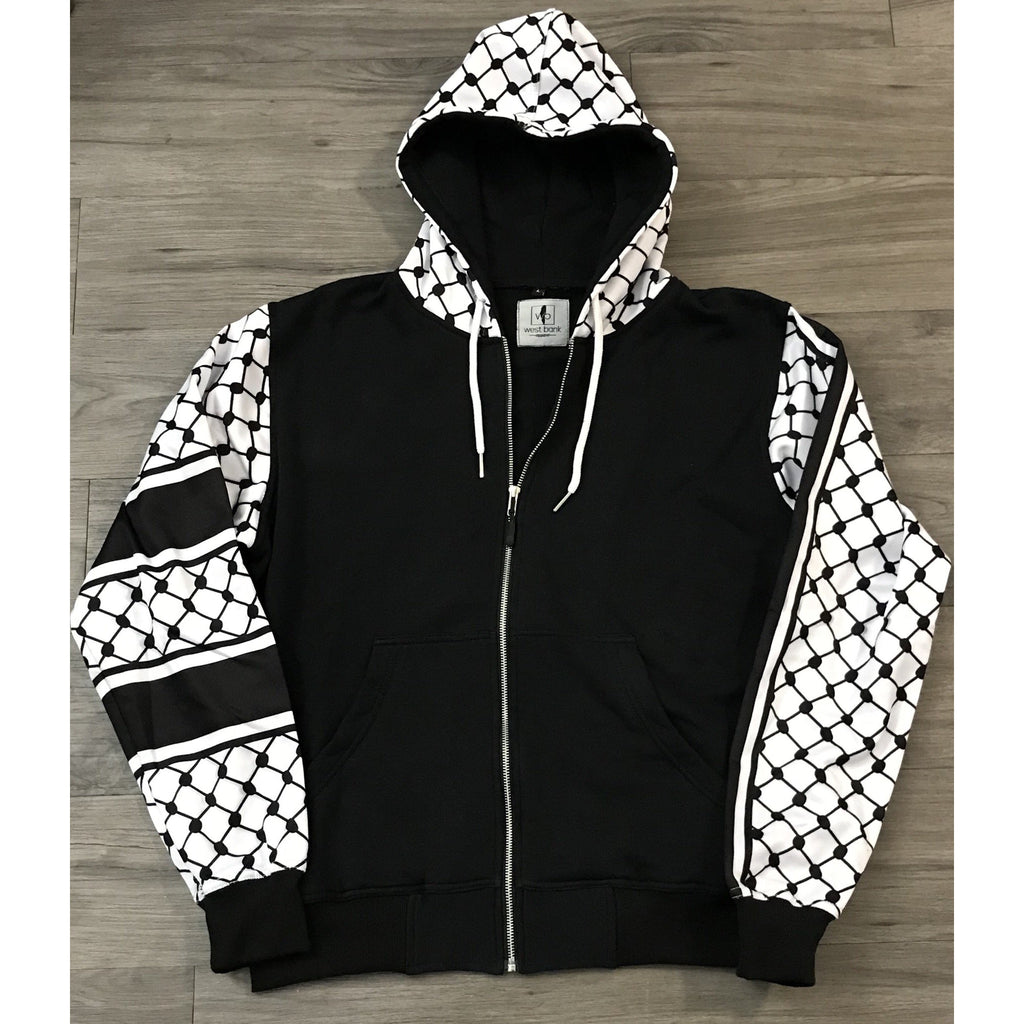 f19bd60f0 Palestinian Hatta Kuffiyeh Hoodie Jacket | West Bank Apparel